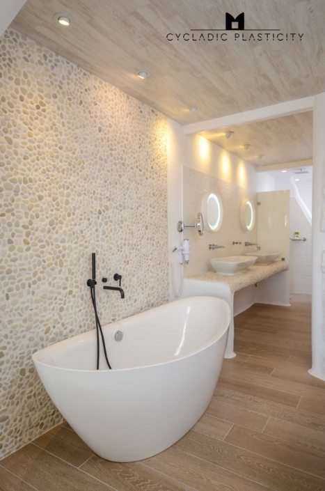 Interior Design For Bathroom Spa On Naxos Paros