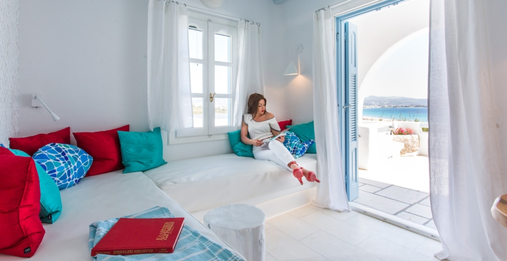 . Living Room Interior Design on Naxos  Mykonos   Santorini