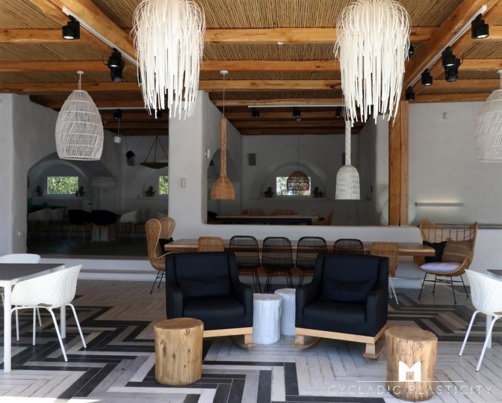 Living Room Interior Design on Naxos, Mykonos & Santorini